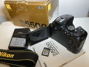 Nikon D5500 Digital Touch Screen Swivel Camera 24.2MP for Sale in Miami, FL