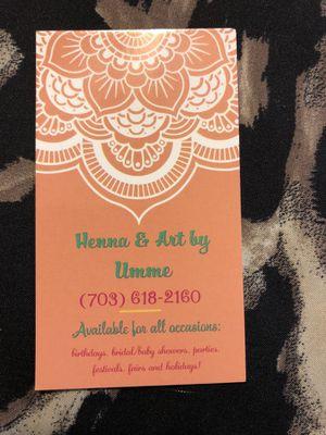 HENNA/MEHNDI for Sale in Woodbridge, VA