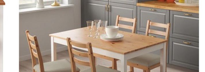 LERHAMN DINING TABLE + 4 Chairs for Sale in Seattle,  WA