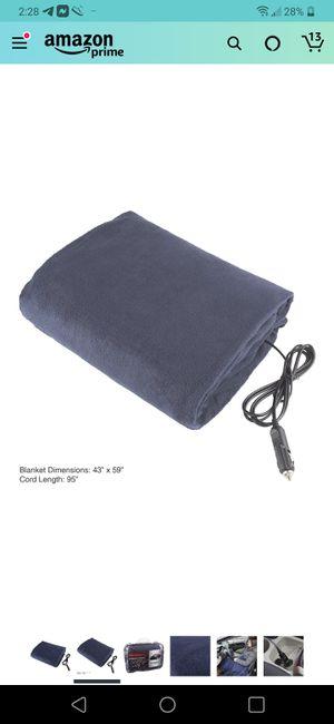 Stalwart 75-hblanket Electric Car Blanket- Heated 12 Volt Fleece -BLUE for Sale in Seattle, WA