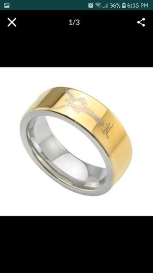 """Size 9 """"Michael Jackson"""" Etched 14k Gold over Tungsten Carbide Comfort Fit Wedding Ring for Sale in Columbia, SC"""