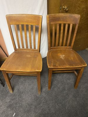 Two wooden chairs for Sale in Rocky Mount, VA