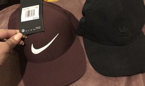 Maroon Nike and adidas hats for Sale in Andover, MA