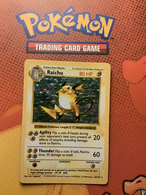 Pokemon Card Shadowless Raichu 14/102 Holo Rare OBO for Sale in Santa Ana, CA