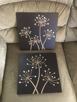 2 New Wooden Plaques with Crystals for Sale in Hampton, VA