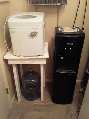 Bread maker & water cooler/ antique cabinet for Sale in Sun City, AZ