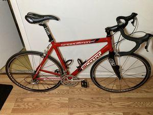 Scott large road bike, Carbon fork, aluminum frame, ready to go, Freshly tuned for Sale in Pompano Beach, FL