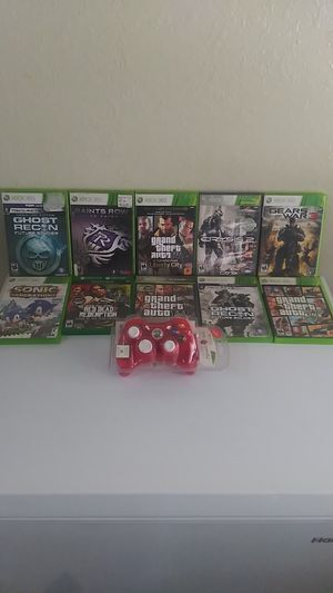 Xbox 360 games $10 each or 80 for all. Brand New Xbox controller and 2 used controllers. for Sale in Apple Valley, CA