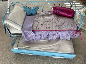 American Girl Doll Bed Set with Trundle Bed! for Sale in Mission Viejo, CA