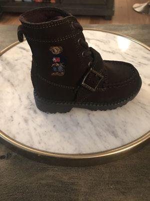 Size 7 Toddler Chocolate Ralph Lauren Boys' Ranger High II Bear Boots for Sale in Washington, DC