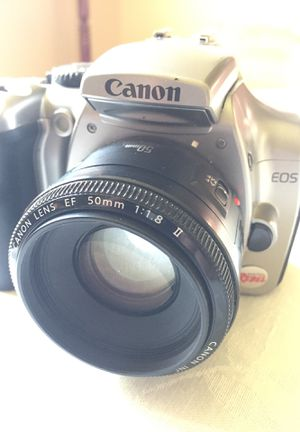 Canon EOS Digital Rebel camera with EF 50mm lens 1:1.8 II, battery and card for Sale in Garrison, MD
