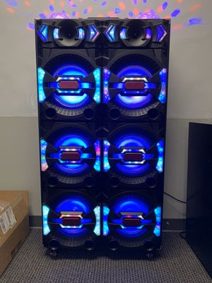 """Professional DJ Speaker System 2000W 6 10"""" Woofers Speaker 10×6 1×2. LED POWER ON AND OFF BUTTON 5 BAND EQUALIZER AUDIO INPUT WIRED MICROPHONE INPUT for Sale in Rancho Cucamonga, CA"""