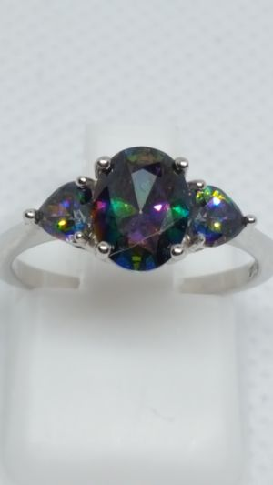 New Rainbow topaz rings. Sterling silver. Sizes 6, 7, 8 and 10 for Sale in St. Louis, MO