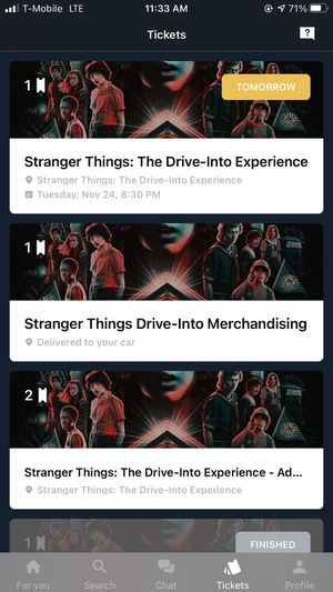 Stranger Things: The Drive-Into Experience VIP Tickets for Sale in Hawthorne, CA