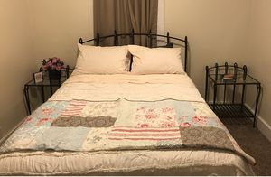 Bed frame and tables for Sale in Lake Stevens, WA
