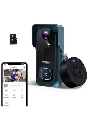 (2020 New)WiFi Video Doorbell Camera, 1080P Wireless Doorbell Camera with Indoor Chime, Motion Detection, Night Vision, IP65 Waterproof, 2-Way for Sale in HALNDLE BCH, FL