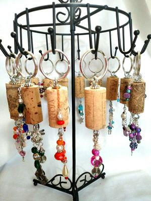 Keychains Handmade Cork and Beads for Sale in Hesperia, CA