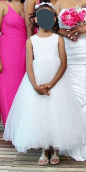 Ball Gown Flower Girl Dress with Heart Cutout for Sale in Lawrenceville, GA