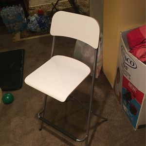 IKEA White Franklin Bar Stool with Backrest for Sale in Matawan, NJ