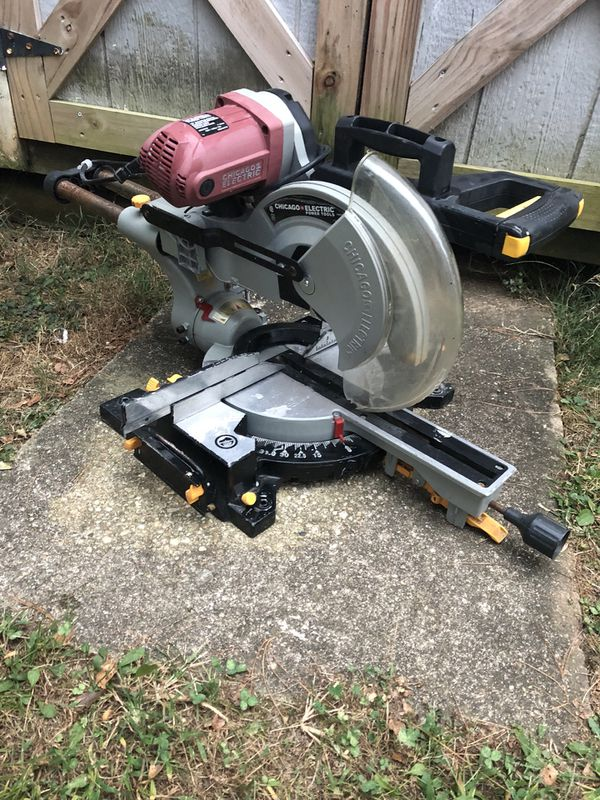 "Chicago electric power tool ( 12"" double bevel sliding compound miter slaw)"