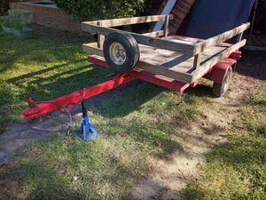 Nice 5ft by 8ft Dump Trailer and Spare Tire for Sale in Cayce, SC