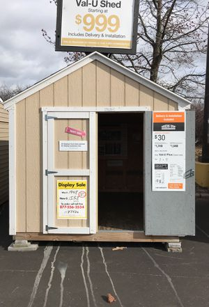 Sheds USA 8x10 Value Plus Shed Display on sale at Home Depot in Westbury NY 11590 for Sale in Westbury, NY