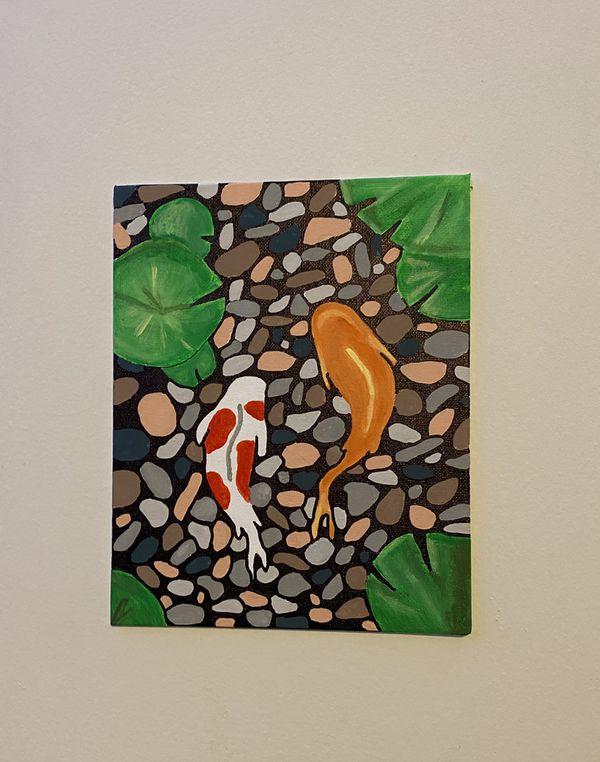 Beautiful Painting of Swimming fish