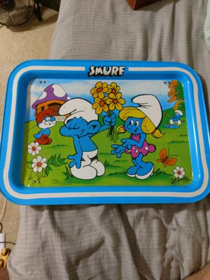 Vintage Smurf TV tray for Sale in Gaithersburg, MD