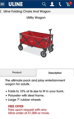 ULINE utility wagon New for Sale in Federal Way, WA