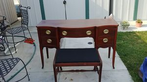 Antique desk with a sitting stool 1930s for Sale in Garden Grove, CA