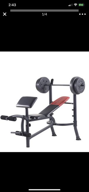 New in box Weider Pro 265 Standard Bench, Bar, and WeightSet for Sale in Rancho Cucamonga, CA