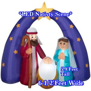 Christmas Navidad. 6.5ft. LED Nativity Scene Inflatable. NEW/NUEVO! -37ave & Glendale. for Sale in Phoenix, AZ