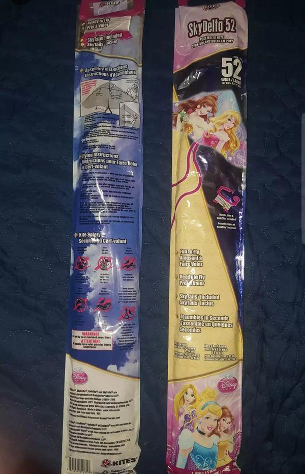2 Disney Princess Kites NEW