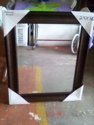 Sale mirror color espresso hanging 29x36 for Sale in Los Angeles, CA