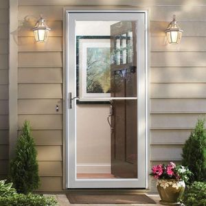 36 in. x 80 in. 3000 Series White Left-Hand Self-Storing Easy Install Aluminum Storm Door for Sale in Chandler, AZ