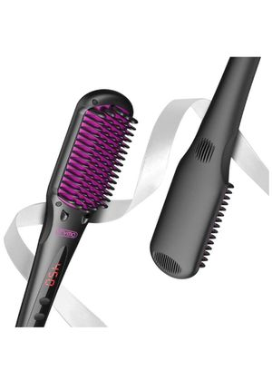 Hair Straightening Brush - Enhanced 2-in-1 Ionic Straightener Brush with Anti-Scald, 16 Heat Levels, Auto Temperature, 30 mins Auto-Off, Portable St for Sale in Rancho Cucamonga, CA