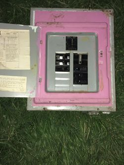 Old Panel box clean, good condition, metal obo for Sale in Yakima,  WA