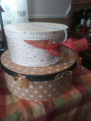 New Hat Boxes, Lamp, Basket, candle. for Sale in Cincinnati, OH