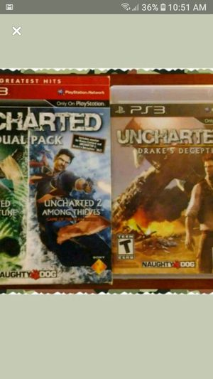 (2) Unchartered PS3 games for Sale in Wichita, KS