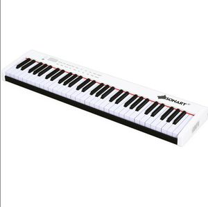 BXII 61 Key Touched Digital Piano MIDI Keyboard w/Bluetooth &MP3 Home White for Sale in Anaheim, CA