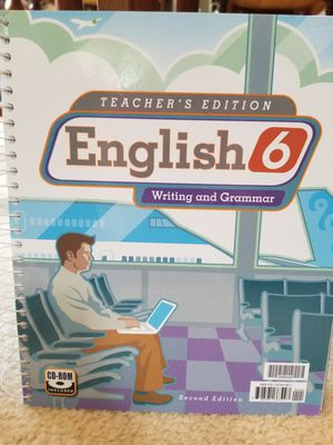 HOMESCHOOL CURRICULUM BJU Press English gr 6, 2nd edition for Sale in West York, PA