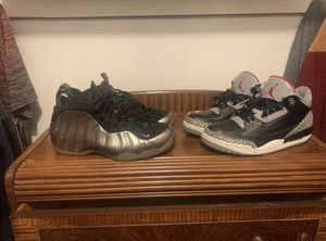 Nike foamposite Jordan black cement 3 11.5 for Sale in Taunton, MA