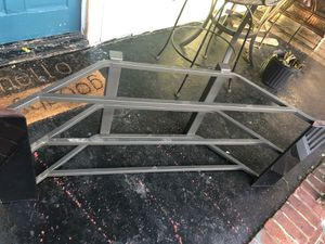 Glass tv stand holds 43 in tv for Sale in Newport News, VA