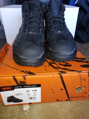 Worx Mens Steel Toe Work Boots, Size 12 for Sale in Norwalk, CA