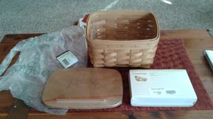 Longaberger Large Recipe Basket w/Protector and Cards (NOT used) for Sale in Belleville, MI