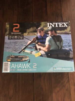 ✅ Intex Seahawk 2, 2-Person Inflatable Boat Set with French Oars & Air Pump ✅ for Sale in Garden Grove, CA