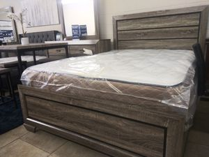 Queen bed frame $249 with mattress $399 for Sale in North Las Vegas, NV