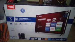 """TCL, 55"""" 4k smart TV, Roku for Sale in Vancouver, WA"""