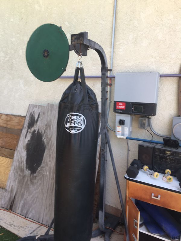 Heavy bag speed bag and stand