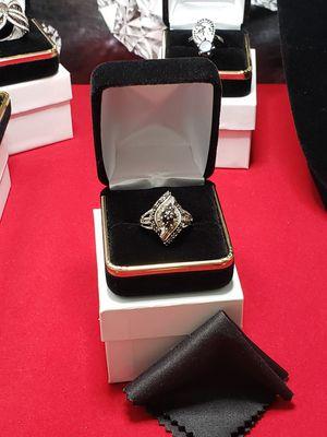 Vintage 100% rea black+ white 2.20 ct totally diamond ring for Sale in Meriden, CT